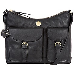 Pure Luxuries London - Black 'Chilton' fine natural leather bag