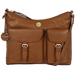 Pure Luxuries London - Chestnut 'Chilton' fine natural leather bag