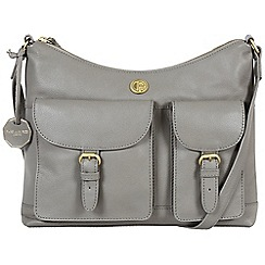 Pure Luxuries London - Grey 'Chilton' fine natural leather bag