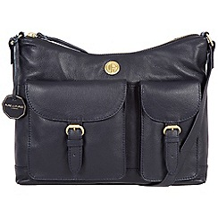 Pure Luxuries London - Navy 'Chilton' fine natural leather bag