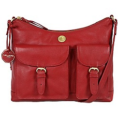 Pure Luxuries London - Red 'Chilton' fine natural leather bag