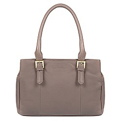 Pure Luxuries London - Grey 'Ayr' soft cowhide leather handbag