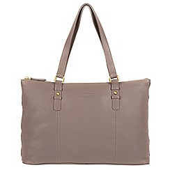 Pure Luxuries London - Grey 'Stirling' soft cowhide leather handbag