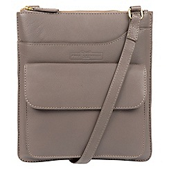 Pure Luxuries London - Grey 'Oban' soft cowhide leather cross-body bag