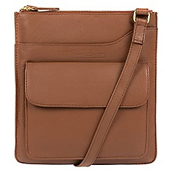Pure Luxuries London - Tan 'Oban' soft cowhide leather cross-body bag