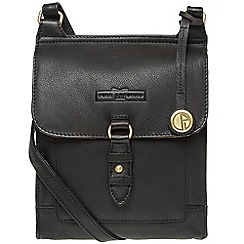 Pure Luxuries London - Black 'Maine' soft cowhide leather small cross-body bag