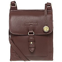 Pure Luxuries London - Brown 'Maine' soft cowhide leather small cross-body bag