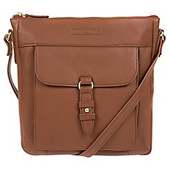 Pure Luxuries London - Tan 'Alloa' soft cowhide leather cross-body bag