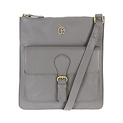 Pure Luxuries London - Grey 'Swanage' fine leather bag