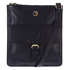 Pure Luxuries London - Navy 'Swanage' lightweight leather bag