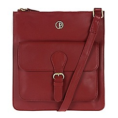Pure Luxuries London - Red 'Swanage' fine leather bag