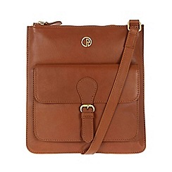 Pure Luxuries London - Nutmeg 'Swanage' lightweight leather bag