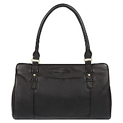 Pure Luxuries London - Black 'Durness' soft cowhide leather handbag