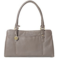 Pure Luxuries London - Grey 'Durness' soft cowhide leather handbag