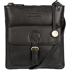 Pure Luxuries London - Black 'Inverness' soft cowhide leather cross-body bag