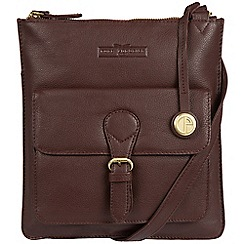 Pure Luxuries London - Brown 'Inverness' soft cowhide leather cross-body bag