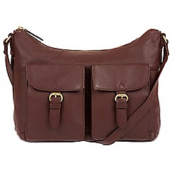 Pure Luxuries London - Brown 'Bute' soft cowhide leather cross-body hobo bag