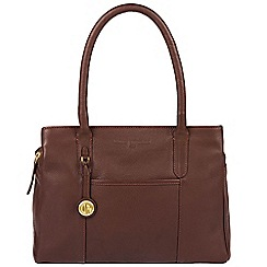 Pure Luxuries London - Auburn 'Cheadle' leather handbag with gold-coloured detailing