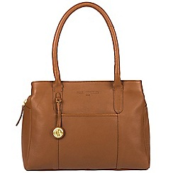 Pure Luxuries London - Tan 'Cheadle' leather handbag with gold-coloured detailing