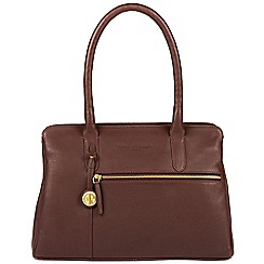 Pure Luxuries London - Auburn 'Darley' leather handbag with gold-coloured detailing
