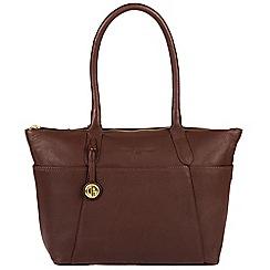 Pure Luxuries London - Auburn 'Eton' leather handbag with gold-coloured detailing