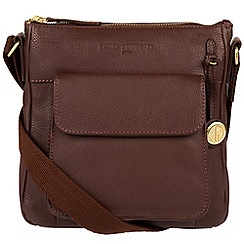 Pure Luxuries London - Auburn 'Fleet' leather bag with gold-coloured detailing