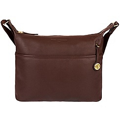 Pure Luxuries London - Auburn 'Helmsley' leather bag with gold-coloured detailing