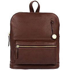 Pure Luxuries London - Auburn 'Ingleby' leather backpack with gold-coloured detailing