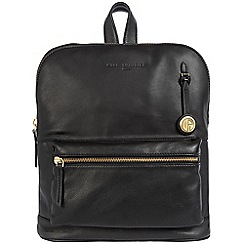 Pure Luxuries London - Black 'Ingleby' leather bag with gold-coloured detailing