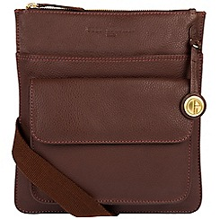 Pure Luxuries London - Auburn 'Jarrow' leather bag with gold-coloured detailing