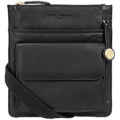 Pure Luxuries London - Black 'Jarrow' leather bag with gold-coloured detailing