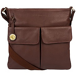 Pure Luxuries London - Auburn 'Alice' leather bag with gold-coloured detailing