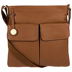 Pure Luxuries London - Tan 'Alice' leather bag with gold-coloured detailing