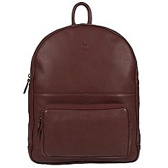 Pure Luxuries London - Oxblood 'James' real leather backpack