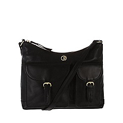 Pure Luxuries London - Black 'Corbridge' fine natural leather bag