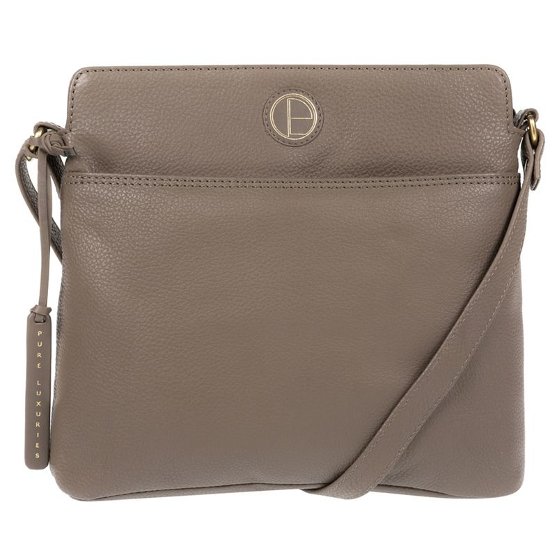 Pure Luxuries London - Taupe Giola Genuine Leather Cross-Body Bag