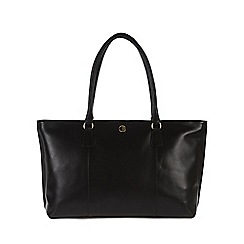 Pure Luxuries London - Black 'Kempton' lightweight natural leather large bag