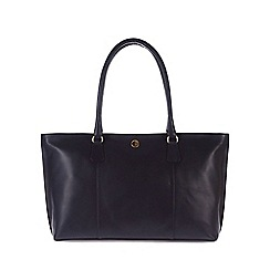 Pure Luxuries London - Navy 'Kempton' lightweight natural leather large bag