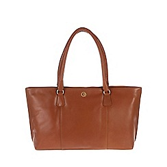 Pure Luxuries London - Nutmeg 'Kempton' lightweight natural leather large bag