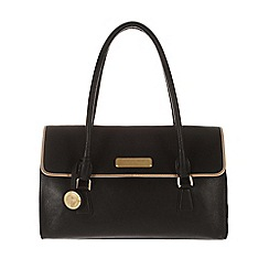 Pure Luxuries London - Black and champagne trim 'Nicola' leather bag - Deluxe Collection