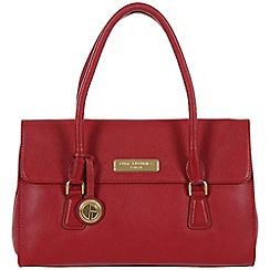 Pure Luxuries London - Red 'Nicola' fine leather bag - Deluxe Collection