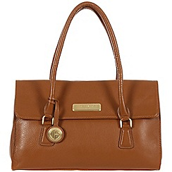 Pure Luxuries London - Tan 'Nicola' fine leather bag - Deluxe Collection