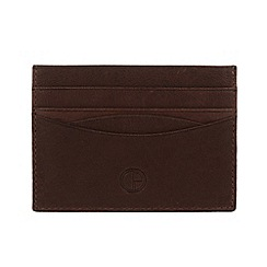 Pure Luxuries London - Brown 'Elgin' fine natural leather card wallet
