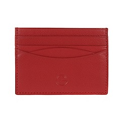 Pure Luxuries London - Red 'Elgin' fine natural leather card wallet