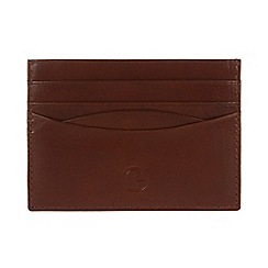 Pure Luxuries London - Italian style tan 'Elgin' fine natural leather card wallet