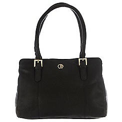 Pure Luxuries London - Black 'Dalton' soft natural leather handbag