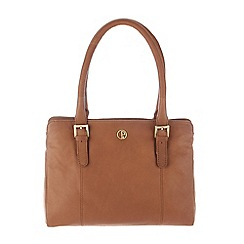 Pure Luxuries London - Dark tan 'Dalton' soft natural leather handbag