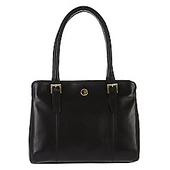 Pure Luxuries London - Black 'Dalton' fine natural leather handbag