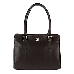 Pure Luxuries London - Brown 'Dalton' lightweight natural leather handbag