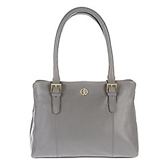 Pure Luxuries London - Grey 'Dalton' fine natural leather handbag